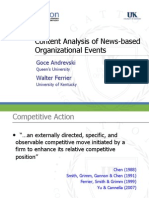 Content Analysis of News-based Organizational Events