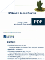 CAQDAS in Content Analysis