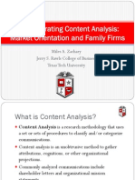 Demonstrating Content Analysis