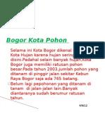 Bogor Kota Pohon