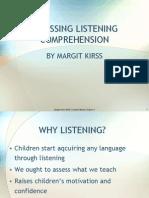 Assessing Listening Comprehension