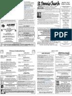 April 8 Bulletin