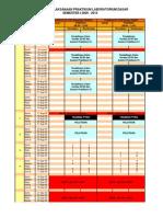 Kalender Pelaksanaan Praktikum EL-2193 Dan EL-2195 Labdasar Sem I 2009-2010