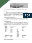 MKTG 421 - Group Project Outline - Spring 2012