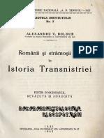 Alexandru Boldur, Românii şi strămoşii lor în istoria Transnistriei