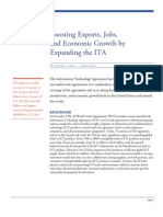 Boosting Exports Jobs And Economic Growth By Expanding The ITA
