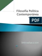 Filosofía Política Contemporánea