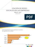 Utilización de Redes Sociales en las Empresas - 2da Entrega