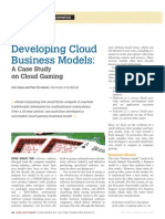 Developing Cloud Business Models