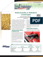 Biodiesel Quality