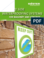 KOESTER Systembrochure Negative Side Waterproofing Systems for Masonry and Concrete
