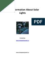 3Fundamental Specifics of Solar Lamps