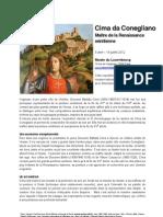 Cima Da Conegliano - dossier de presse