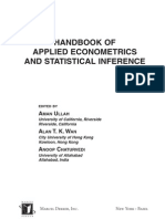 Handbook of Applied Econometrics & Statistical Inference