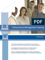 2008 Performance Management Training
