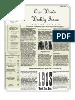 Newsletter Volume 4 Issue 15
