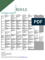 Pool Schedule Fall 11