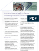 Reporting a Criminal Act