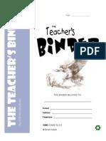 Teachers Binder Samples