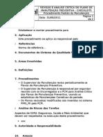 006 Revisão e Análise Crítica do Plano de Manutenção Preventiva - Checklists rev00