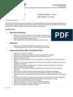 AR Teacher Job Description - Highly Qualified Rev 8-19-2011