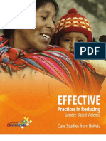 EFFECTIVE Practices in Reducing Gender-Based Violence Case Studies from Bolivia