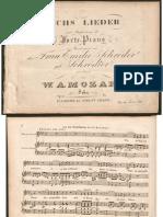 Franz Xaver Wolfgang Mozart - 6 Lieder Op.21