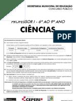 Prova de Ciências - de 5ª a 8ª série