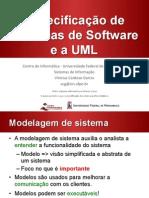 Especificação de Sistemas de Software e a UML