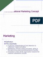 Ch.1 the International Marketing Concept