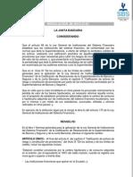 SANTA FE VALORES - RESOLUCION JUNTA BANCARIA SOBRE HIPOTECAS FORANEAS