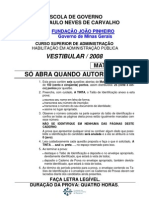 Prova Csap Aberta Matematica-2008