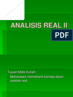Analisis Real II Pertemuan 1