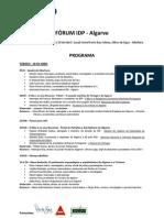 Programa Fórum IDP Algarve - Jornadas