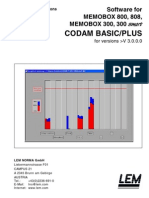 Codam Basic Plus V3.0 User Manual