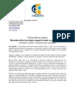 Thomas Rivera Schatz Hacienda debe investigar alegado fraude en planillas AGP (También le pide a Senador que explique)