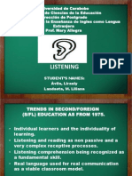 Listening Active or Passive Process