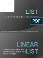 LIST_Lecture in Data Structures