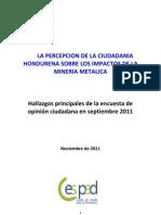 Ciudadanía hondureña en contra de la minería metálica