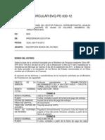 SANTA FE VALORES - Circular BVQ PE 030 12