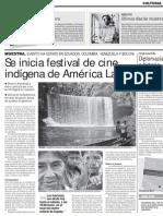 Se inicia festival de cine indígena de América Latina