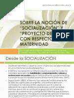 Becerra, G. (2012) Sobre la noci+¦n de socializaci+¦n y Proyecto de vida con respecto a la maternidad