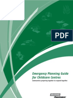 Emergency Planning Guide for Childcare Centres