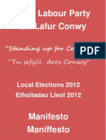 Manifesto CCBC 2012 - Eng and Welsh
