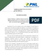 Declaratie Andrei Chiliman