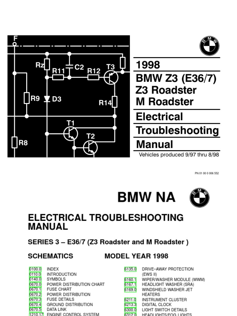 1996 Bmw Z3 Engine Diagram Schematic Diagrams 2000 Mazda MX-5 Roadster 2000 Bmw  Z3 Roadster Diagram
