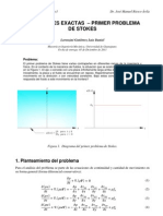 Deducción completa (análitica/CFD) del primer problema de Stokes / First Stokes problem, step by step deduction (analytical and CFD)