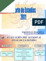Reporte de Estadías 2011 IDIE