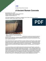 The Riddle of Ancient Roman Concrete