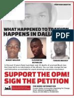 OPM Trayvon Martin Flier